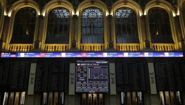 El IBEX 35 pierde los 8.800 puntos, tras caer el 0,91%