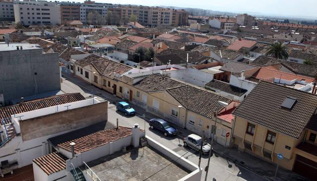 Imagen panorámica de una de las zonas del barrio de Lourdes cuyas calles serán renombradas por el Ayuntamiento de Tudela.