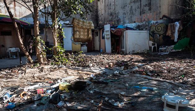 Imagen del asentamiento junto al Tenis.