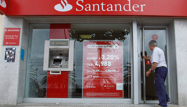 El santander suprimir empleos en espa a la mitad for Oficina santander madrid