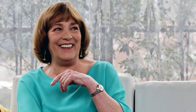 Carmen Maura, durante la entrevista con Efe en Bogotá (Colombia).