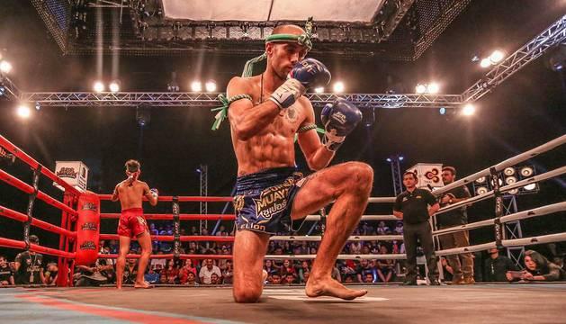 Carlos Coello, durante un combate.