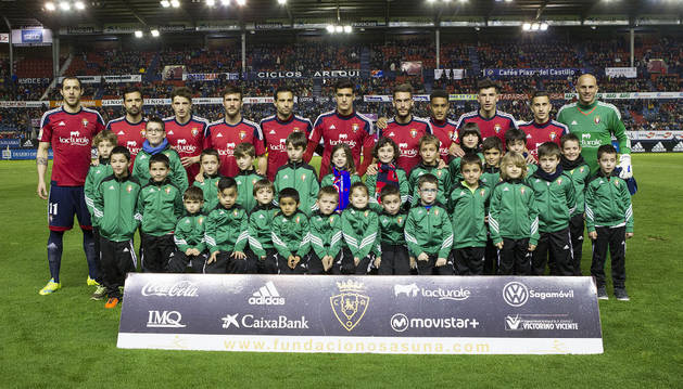 Alineación de Osasuna contra el Zaragoza.
