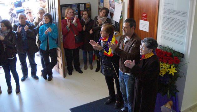 Asistentes al homenaje celebrado ayer en Castejón.