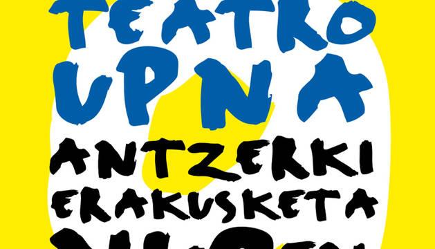 Cartel de la IX Muestra de Teatro Universitario.