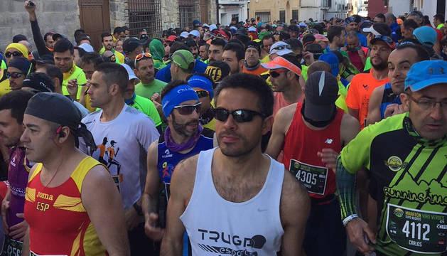 Imagen de la salida del maratón Vías Verdes de Castellón.