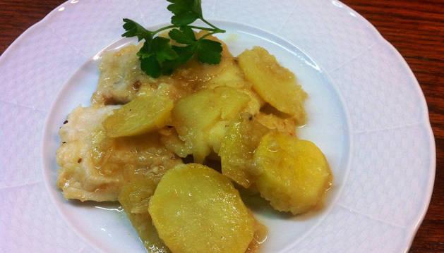 Imagen de la receta de merluza con patatas.