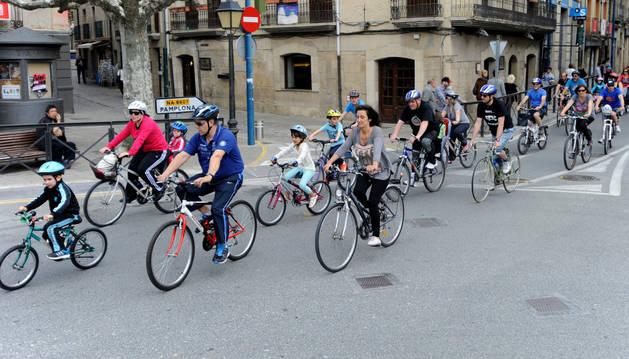 Una jornada anterior del día de la bici en Tafalla.