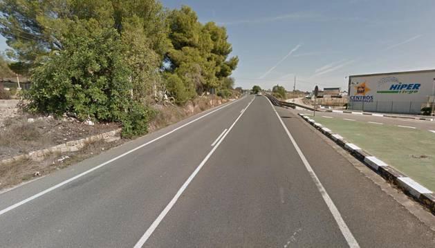 Imagen del lugar donde se ha producido el accidente en Valencia.