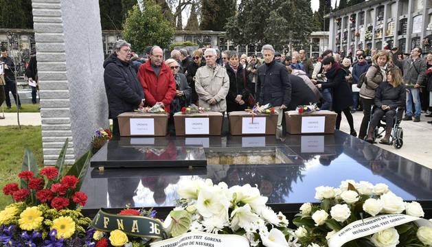 Homenaje a doce fusilados en 1936 cuyos restos no han sido identificados