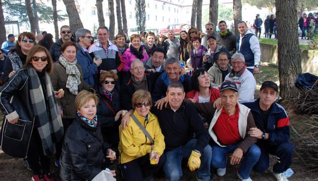 Un grupo de corellanos participantes en la tradicional romería a la Virgen del Villar de Corella.