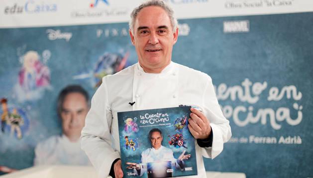 El chef Ferrán Adriá durante la presentación de 'Te cuento en la cocina'.