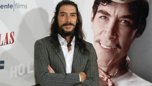 El actor Óscar Jaenada, durante la presentación en España de 'Cantinflas'.