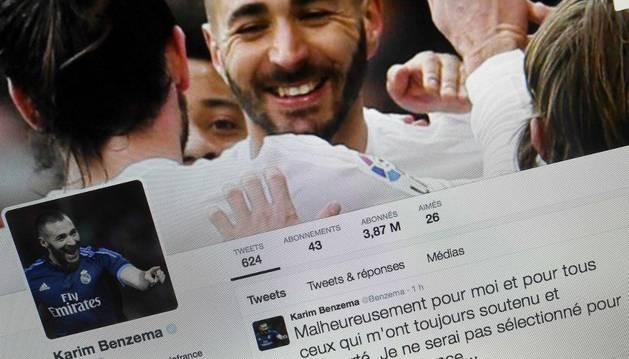 Benzema, en Twitter.