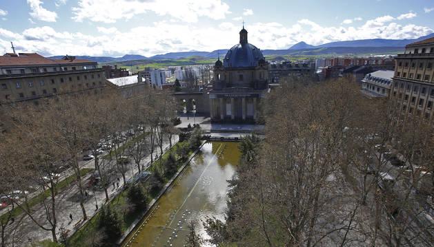 Aspecto ayer de la plaza de la Libertad, hasta ahora de Conde Rodezno.