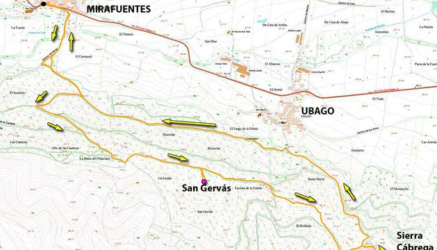 Mapa de San Gervás.