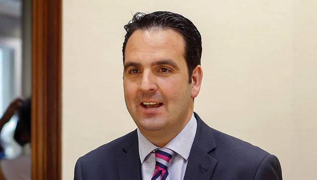 El diputado de UPN Íñigo Alli, este miércoles en el Congreso.