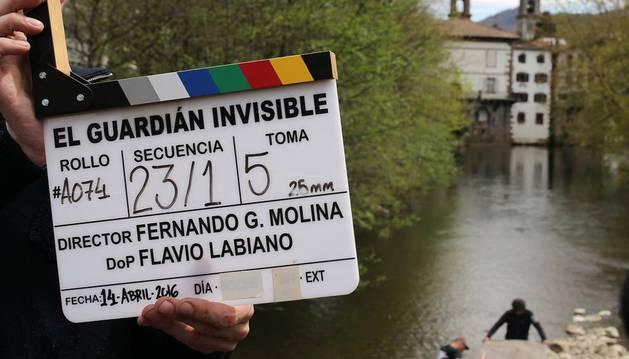 Rodaje de la película 'El guardián invisible'