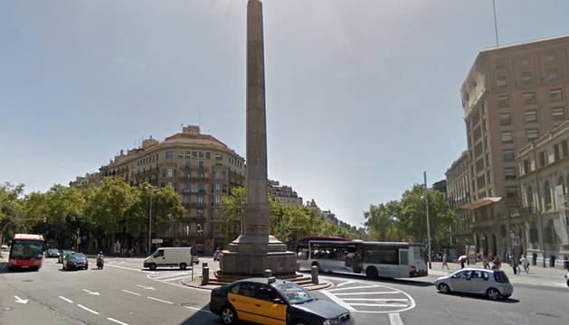Plaza Juan Carlos I de Barcelona.