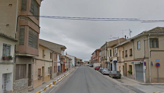 La avenida de Navarra, en Cadreita, a la altura del número 48.