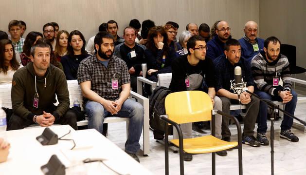Juicio a cinco miembros de Ekin en Navarra.