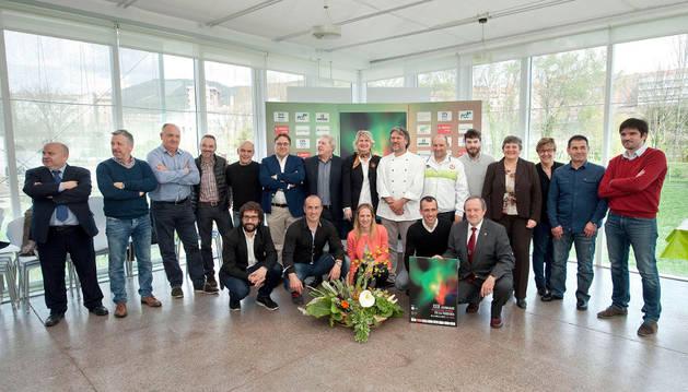 Asistentes a la presentación de las Jornadas de la Verdura de Tudela que tuvo lugar ayer en Pamplona.