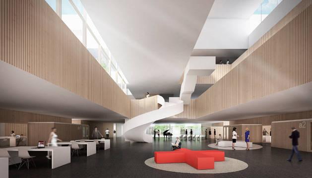 Imagen del interior del edificio de Posgrado del Campus de Madrid.