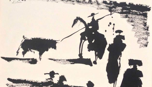 Litografía taurina de Picasso.