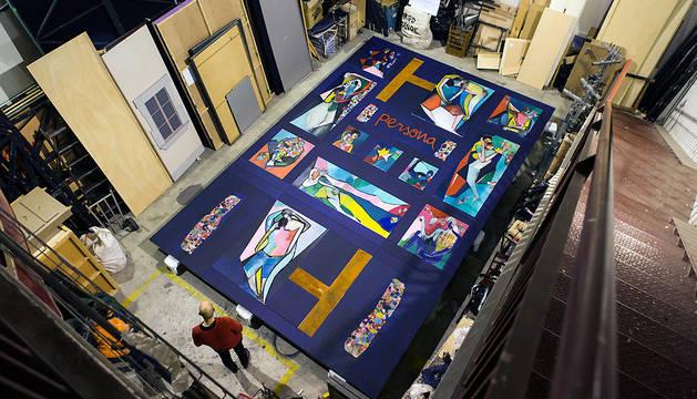 La obra pictórica quedará expuesta en el vestíbulo principal de Baluarte hasta el próximo 2 de mayo.