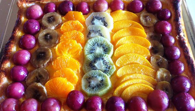 Imagen de una tarta de frutas.