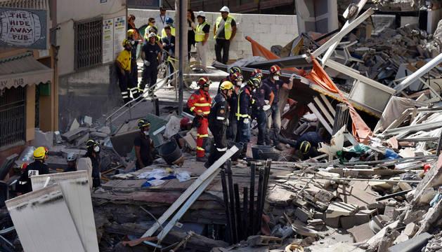 El derrumbe de un edificio en Tenerife deja al menos dos muertos y tres heridos