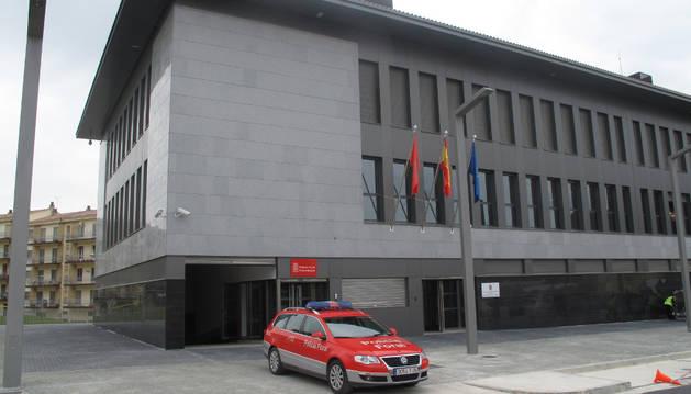 Comisaría de la Policía Foral en Estella.