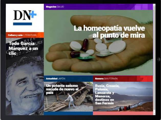 Ya está disponible la publicación de hoy, con García Márquez y la homeopatía en portada