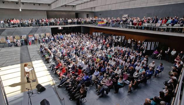 El Parlamento de Navarra ha acogido hoy un Acto de Homenaje a los representantes públicos asesinados tras el levantamiento militar de 1936.