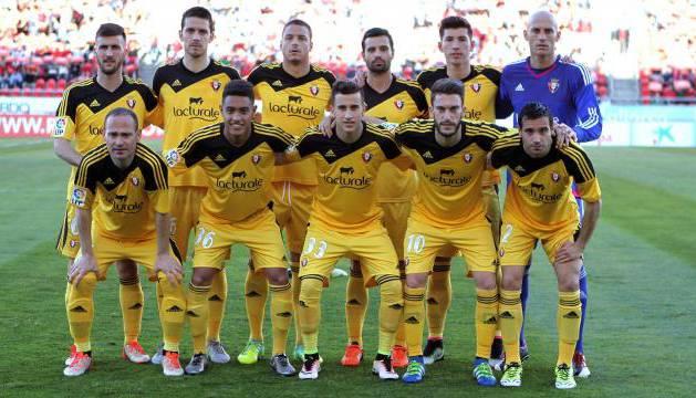 Alineación de Osasuna en Mallorca.
