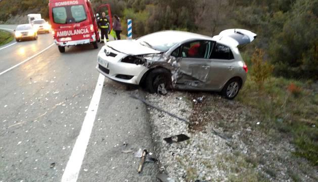 Accidente de tráfico en Bigüezal