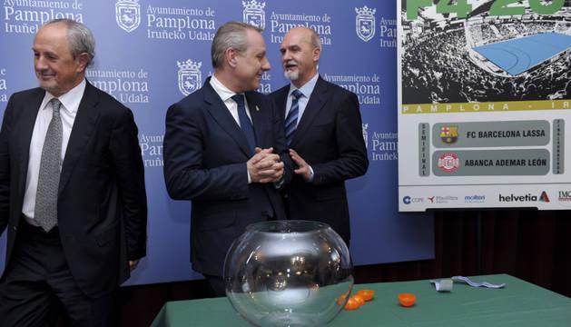 Sorteo de la Copa del Rey de balonmano en Pamplona.