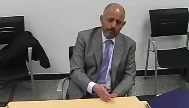 El exauditor de Osasuna Adolfo Suárez, cuando declaró como testigo ante el juez Otamendi.