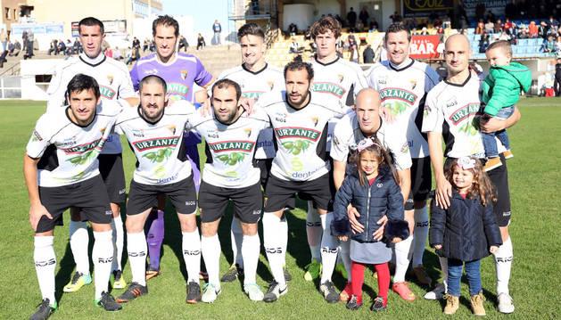 Once titular del Tudelano en uno de los partidos de esta temporada en el Ciudad de Tudela.