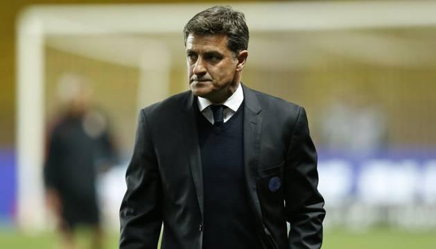 Míchel, durante su etapa como entrenador del Marsella.