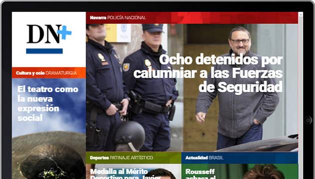 Las detenciones por calumnias, en portada de DN+ Tablet
