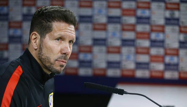 Diego Pablo Simeone, en rueda de prensa.