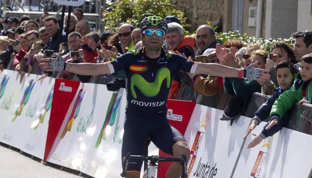 Valverde, en la Vuelta a Castilla León.