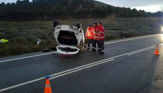 Accidente mortal en la NA-160 en Tudela