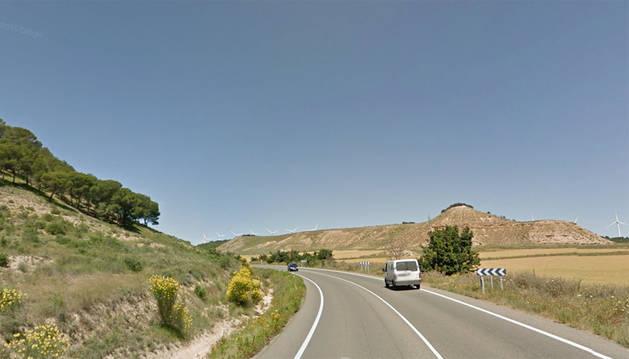Fallece un motorista tras chocar con un vehículo en la NA-160 en Tudela