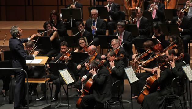 La Orquesta Sinfónica de Navarra, en un concierto anterior.