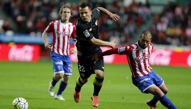 Konoplyanka, contra el Sporting.