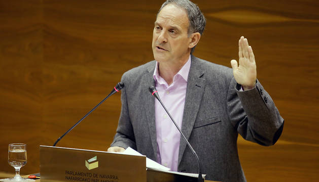 El portavoz de EH Bildu en el Parlamento de Navarra, Adolfo Araiz.
