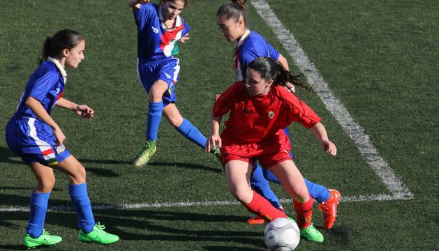 Un partido de la selección femenina navarra.