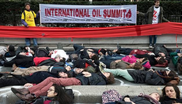 Protesta en contra el cambio climático.